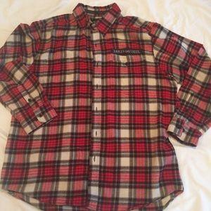 Harley Davidson Plaid Shirt Size L